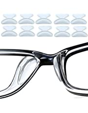Clear Eyeglass Nose Pads, 5 Pairs Anti-slip Pads Nose Cushions Stick on Silicone For Glasses Spectacles Eyeglass Sunglass, 1.8 mm Thick