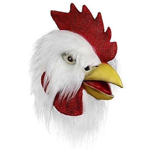 HTQ Pascua Halloween Navidad, Cabeza de Pollo de Halloween máscara de látex tocados,...