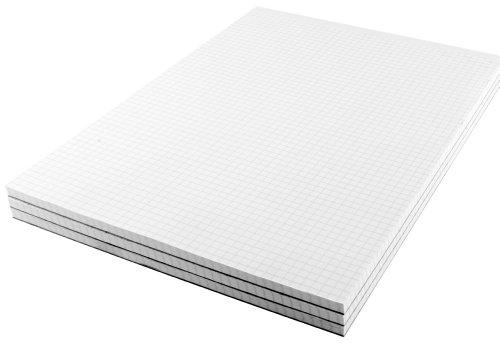Q Connect–5mm, formato A4, 80 foglie, a quadretti, blocco note, confezione da 10
