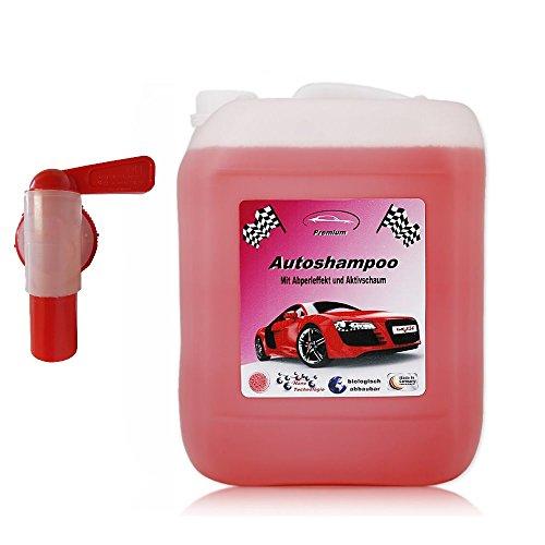 RedFOX24 5 Liter Professional Premium Autoshampoo Konzentrat mit Auslaufhahn. Abperleffekt & Aktivschaum
