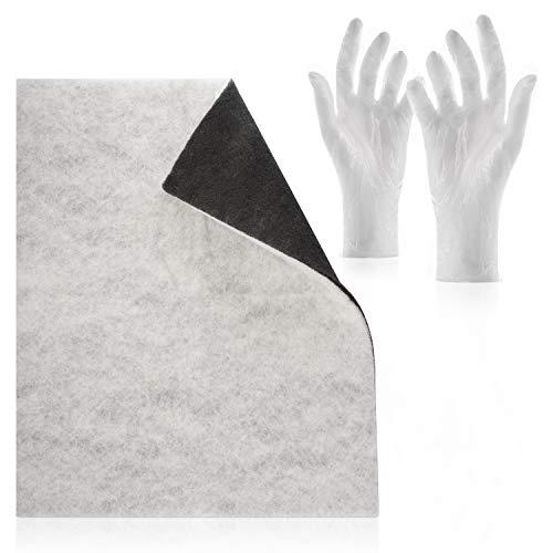 Filtro doble con filtro de carbon activado Comfort - Paquete con guantes intercambiables Corte individual, 47 x 57 cm
