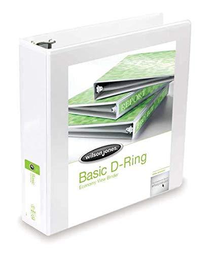 Basic D-Ring View Binder, 3'' Cap, White