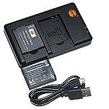 DSTE 2PCS DMW-BCM13E DMW-BCM13 DMW-BCM13PP(1800mAh/3.7V) Batería Cargador Compatible para Panasonic Lumix DMC-LZ40,DMC-TZ40,DMC-TZ41,DMC-TZ55,DMC-TZ60,DMC-ZS27,DMC-ZS30,DMC-ZS35,DMC-ZS40,DMC-ZS50