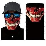 KHUPMIN Vintage 3D Crâne Multifonction Foulard Magique Protection UV Visage Masque Solaire Chapeaux pour La Course À Vélo Motocyclette Pêche Chasse Cour De Travail (Size : 60cm)