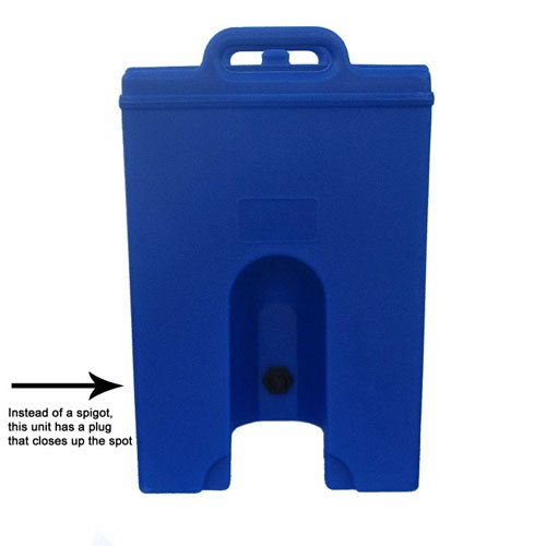 Great Features Of Cambro Camtainer 1 Gallon Beverage Dispenser with Plug, Slate Blue (100LCDPL401) C...
