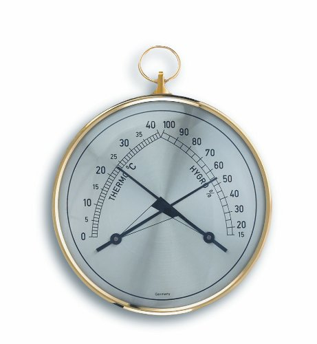 TFA Dostmann Analoge thermo-hygrometer, controle van de temperatuur/luchtvochtigheid, gezond binnenklimaat