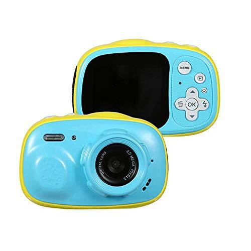 sknonr wasserdichte Kamera 3 Meter wasserdicht 2,0 Zoll HD IPS-Display Kinder, MP3 Unterstützung, MP4 (Color : Blue)