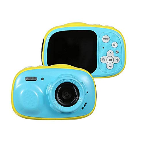 XinQing-niños cámara De los niños a Prueba de Agua la cámara Resistente al Agua 3 Metros 2,0 Pulgadas IPS HD Display, Soporte de MP3, MP4 (Color : Blue)