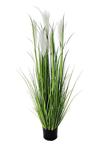 Arnusa Künstliches Pampasgras 120cm Gras Kunstgras Schilf Federgras Palmengras Dekogras Künstliche Pflanze