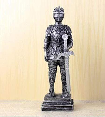 Escultura,Estatua Adornos Esculturas Guerrero Medieval Escultura De Guerrero/Muñeca Caballería Soldado Caballero/Soldado Estatua De Hojalata Decoración del Hogar