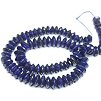 "Earth Gems Park Super Fine Quality Gems Jewelry Natural Blue Sapphire Laser Cut Faceted Disc Button Shape Rondelle Gemstone Loose Craft Beads Strand 16"" 9mm 12mm Code:- BF-25852"