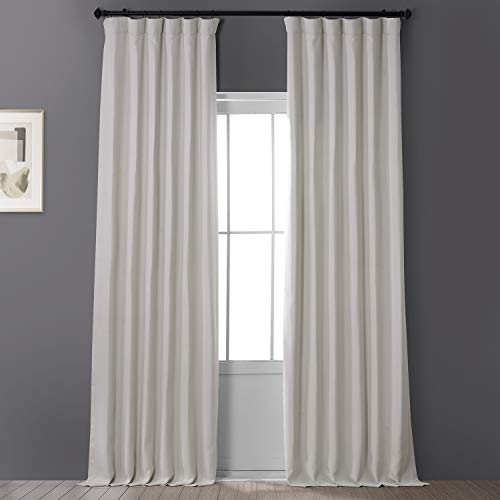 HPD Half Price Drapes BOCH-LN1856-108 Faux Linen Blackout Room Darkening Curtain (1 Panel), 50 X 108, Birch