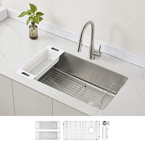 Verona 16-Gauge Single Bowl Kitchen Sink, Left or Right...