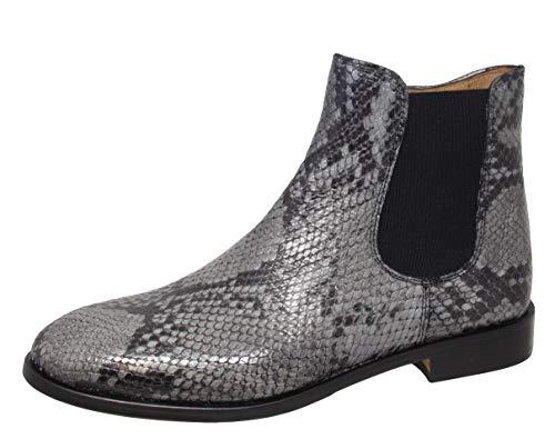 Gallucci J05404AM Chelsea Boots Stiefeletten, Damen und Mädchen (41 EU, Grau (Asfalt))