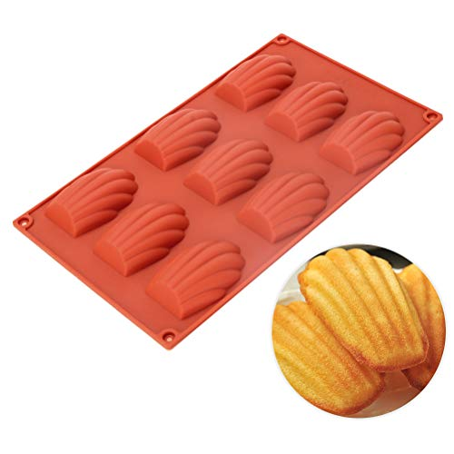 Baker Boutique Silicone Baking Mold 9-Cavity Homemade Seashell Cookies Chocolate Candy Cake Molds Non Stick