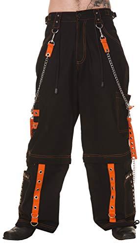 Dead Threads - Six Pockets Black and Orange Men's Trousers L/Black/Orange