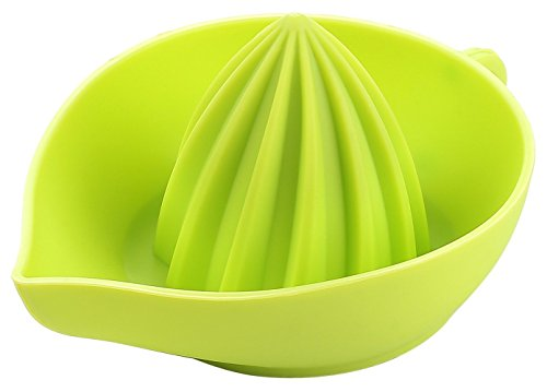 Lemon Juicer - Durable Silicone Construction - Rounded Edges for Total Comfort - Easy to Pour - Portable and Toxin Free - Dishwasher Safe - Beautiful Design! (Green) by Cherry Appliances