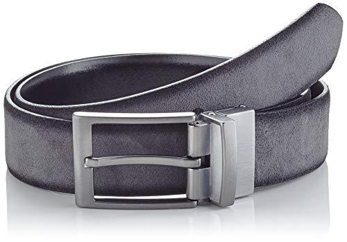BRAX Herren Hakagürtel Gürtel, Grey, 90
