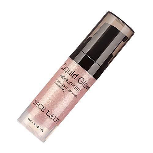 Toygogo Brillo Líquido Resaltador Iluminador Cara Maquillaje Contouring Bronzer - Oro rosa