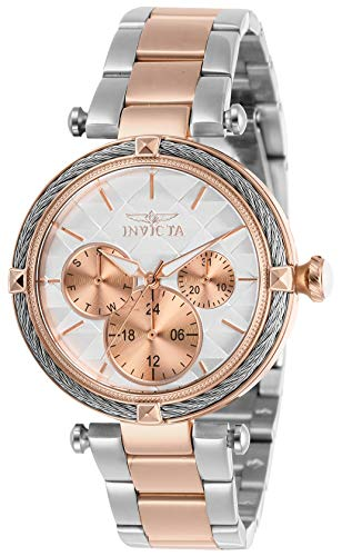 Invicta Women's Bolt Quartz Watch with Stainless Steel Strap, Gold, 18 (Model: 28962)