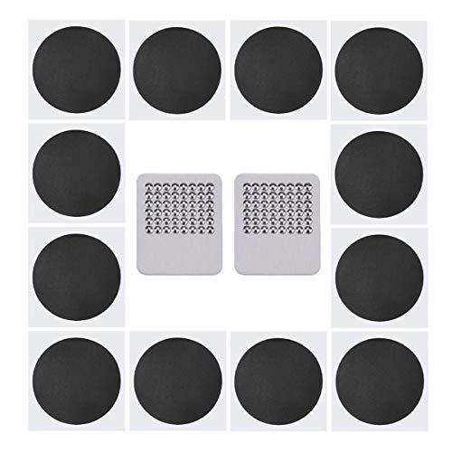 Reparaturkaestchen Flicken, 12 Stück, selbstklebend, ohne Klebstoff, Metall-Raspel enthalten