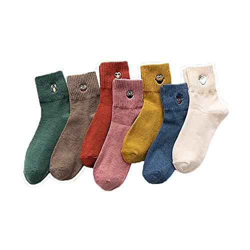 Bocotoer 7 Paar Damen Socken Thermosocken für Erwachsene Unisex Socken für Workout und Freizeit