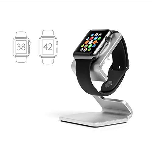 UhrenstäNder Kompatibel FüR Apple Watch Serie 4 Serie 3 Serie 2 Serie 1, 38 Und 42 Mm ZifferbläTter Sowie Alle Gurte , Ladestation (Space White)
