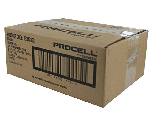 Duracell Procell C Alkaline Battery PC1400-72 per case.