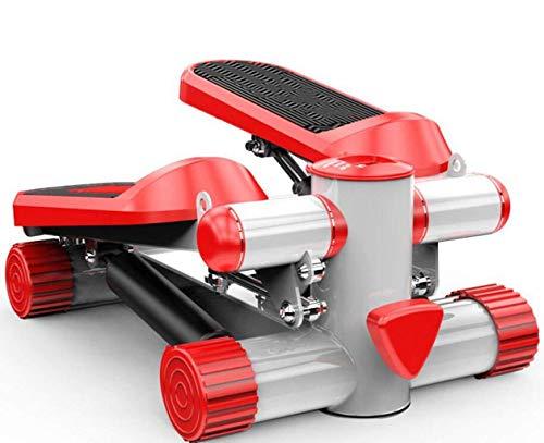 HFJKD Stepper,Laufband Gewichtsverlust Maschine Treppen Stepper Übung Schrittmaschine Fitness Mini Stepper Treppe Stepper Übungsausrüstung mit Widerstandsbändern (Farbe: Rot, Größe: EIN