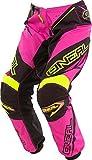 O'NEAL Element MX DH Damen MTB Pant Hose lang Racewear pink/schwarz 2017 Oneal: Größe: 7/8 (32)