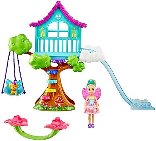 Barbie Dreamtopia -Il Parco Giochi Incantato di Chelsea con Bambola, Cucciolo e Accessori, Giocattolo per Bambini 3+ Anni, GTF49