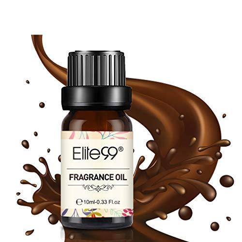 Elite99 Aceites de Fragancia, Aceites Esenciales para Humidificadores, Aceites de Aromaterapia de Leche con chocolate 10ML