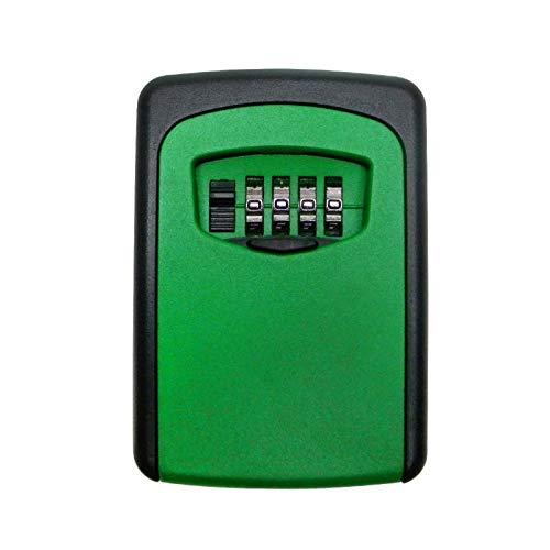 Caja para llaves de pared para exteriores con cerradura de almacenamiento (tamaño: 3.2 x 4.6 x 1.5 cm; color: rojo)