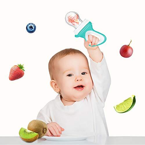 Fruchtsauger, Tinabless Schätzchen Schnuller Gemüse sauger für Schätzchen mit 3 Silikon Nippel Ersatz - 6
