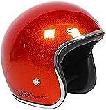 Casco Moto Wyatt Shiny Glitter Red: M