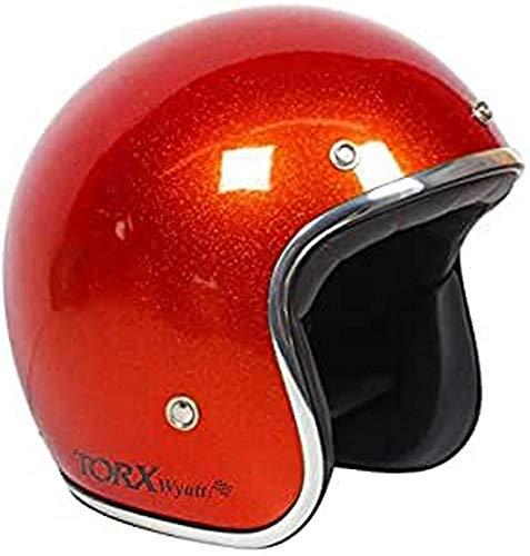 TORX Casco Moto Wyatt Shiny Glitter Red: M