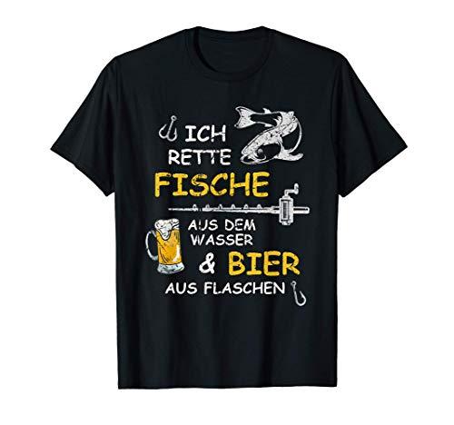 Fischergeschenk, Bier, Bierkrug, Angeln, Angler Geschenk T-Shirt