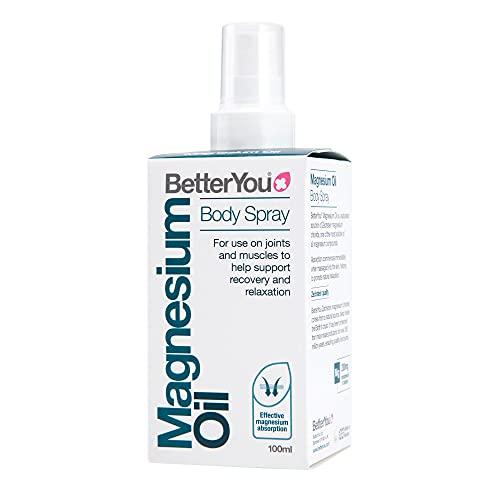 BetterYou Mgnesium Oil - Original Spray Gelenkspray Muskelspray 100ml, (Verpackung kann variieren)