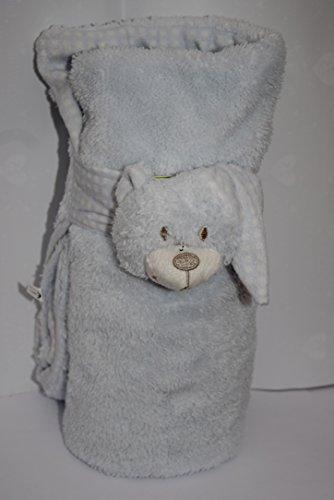 Couverture pour bébé en peluche avec bonnet de nuit