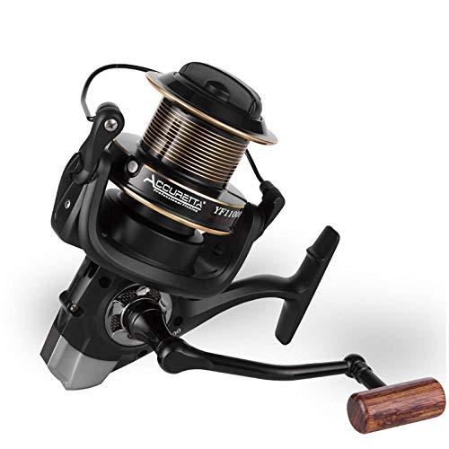 PLBB3K Carrete de Pesca Big Fish de Giro del Carrete 25 KG MAX Drag Potencia 13 + 1BB Todo el Metal del Cuerpo de Giro del Carrete Largo Pesca del Bastidor de la Rueda de 8000 Carretes de Spinning