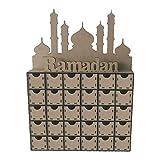 Hölzerner MDF Eid Ramadan Mubarak Adventskalender moslemische islamische Dekorationen Ornament Geschenk
