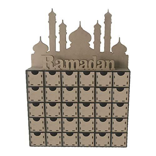 Eid Mubarak DIY Kommode Geschenkbox Dekoration, Holz MDF Ramadan Mubarak Kalender Ornament Geschenk Von R-WEICHONG