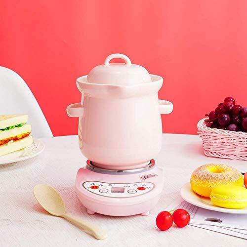 Céramique Cocotte avec LidHealthy antiadhésives CeramicOval 1L Faitout for cuisson lente Blanc 1L Xping (Color : Pink, Size : 1L)