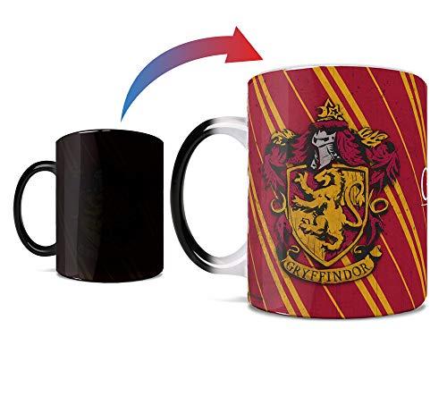 Harry Potter – Gryffindor - Hogwarts House Crest - One 11 oz Morphing Mugs Color Changing Heat Sensitive Ceramic Mug – Image Revealed When HOT Liquid Is Added!