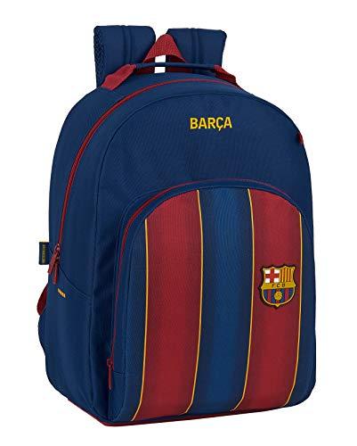 Mochila Safta Escolar de F.C. Barcelona 1ª Equipación 20/21, Adaptable a Carro, 320x150x420 mm