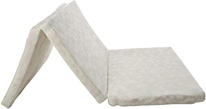 Medicated White 90 X 180 X 7 Cm Quilted Solid Foldable Mattress