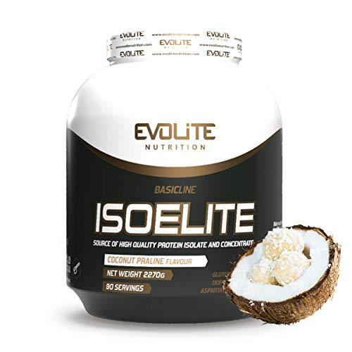 Evolite Nutrition Iso Elite 2270 g - Isolate Protein Pulver - Hochdosiert BCAA - Low Carb Lebensmittel - Muskelaufbau - Isolat - Make Proteinshake (Kokosnuss)