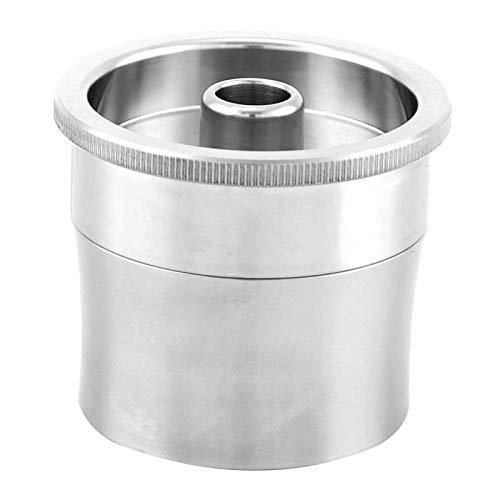 Kadimendium Cápsula de máquina de café Cápsula de café Recargable Segura, sin café Cápsula de Acero Inoxidable Compatible con café de Cocina para el hogar