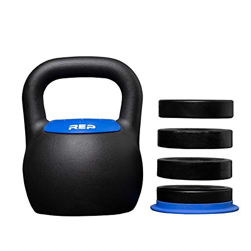 REP FITNESS Adjustable Kettlebell with Matte Powder Coating - 24KG