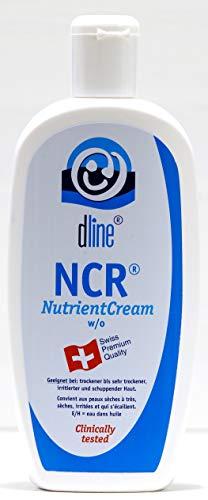 dline NCR-NutrientCream 500ml, hochwertige Feuchtigkeitscreme für trockene bis sehr trockene sensible irritierte schuppende Haut am gesamten Körper, w/o, Lipide 40%, Flasche (1 x 500 ml)